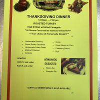 Diamond Shoals Restaurant, Thanksgiving Day Dinner this Thursday