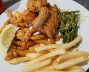 Fried Platter - Create A Combo - Sonny's Restaurant on the Hatteras Waterfront