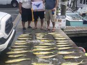 Bite Me Sportfishing Charters, Slick Calm Big mess of dolphin and a sailfish