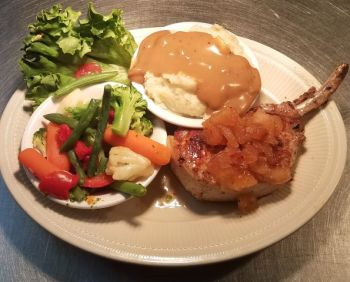 The Froggy Dog Restaurant & Pub, French-Cut Pork Chop