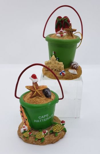 Scotch Bonnet Fudge & Gifts, Beach Pail with Starfish or Flip Flops