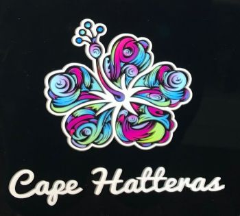 Scotch Bonnet Fudge & Gifts, Cape Hatteras Colorful Flower decal