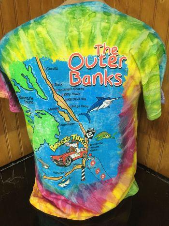 Breeze Thru Avon, Outer Banks Map Tee