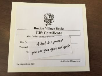 Buxton Village Books, Gift Certificates