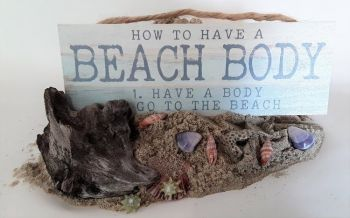 Scotch Bonnet Fudge & Gifts, Wooden Sign With Rope Hanger - How To Make A Beach Body