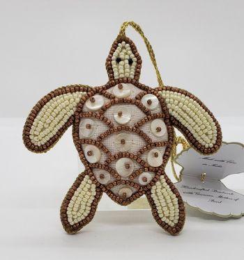 Scotch Bonnet Fudge & Gifts, Beaded Turtle Ornament