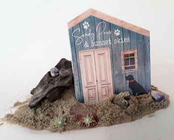 Scotch Bonnet Fudge & Gifts, Sandy Paws Wood Sign