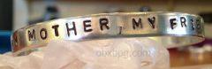 Aluminum stamped bracelet